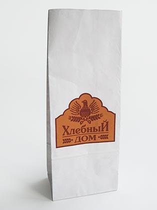 Бумажный пакет для хлеба с прямоугольным дном