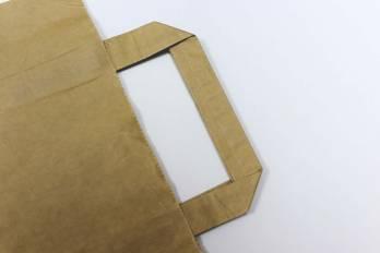 Бумажный пакет крафт с плоской ручкой. Лайт пак. Ижевск.